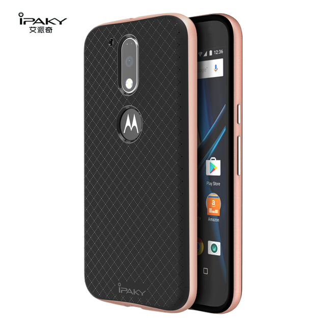 5f51cc5d3b7 iPaky Case for Motorola Moto G4 Plus Cover Hard PC + Soft TPU Silicone 2 in  1 Case for Moto G4 Cover Shockproof Protective Sheld