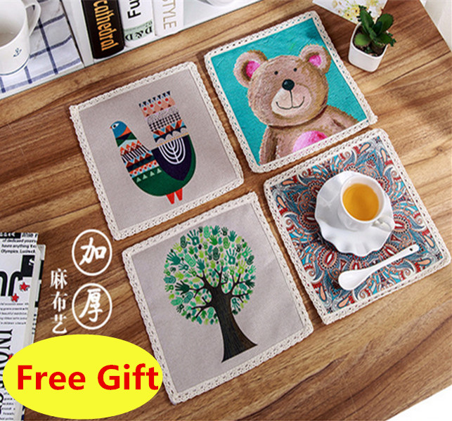 dining room table cover protectors pads nj font set cotton linen fashion protector