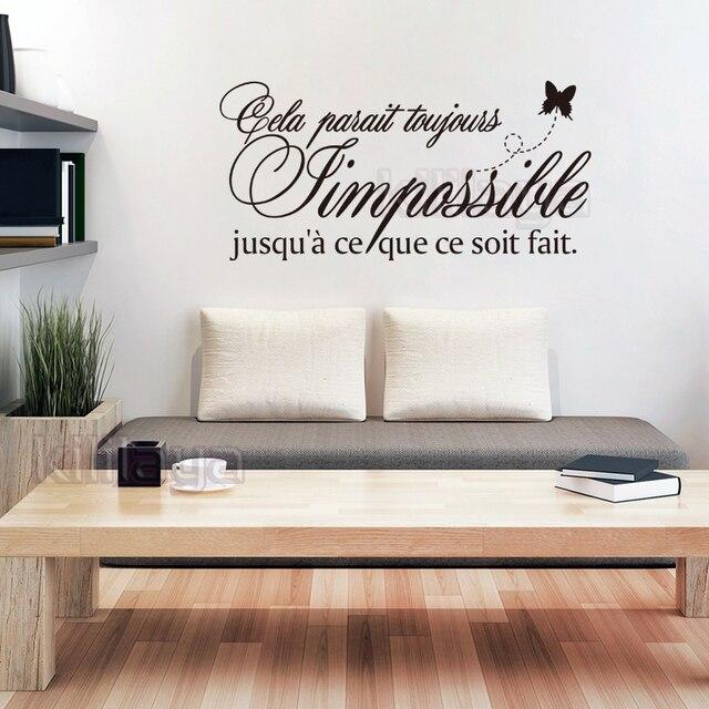 Stickers Franse Citation l\'impossible Muurschildering Vinyl ...