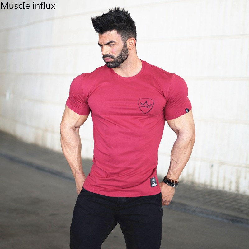 2019 Males Health club Sport Working Cotton T-Shirt Health Coaching Bodybuilding Quick Sleeve Male Informal Tees Tops Clothes Working T-Shirts, Low-cost Working T-Shirts, 2019 Males Health club Sport Working...
