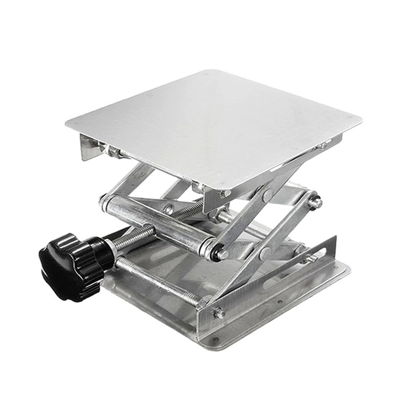 100mm 4 Inch Stainless Steel Router Lift Table Woodworking Engraving Lab Lifting Stand Rack Lift Platform For Cutting Wood