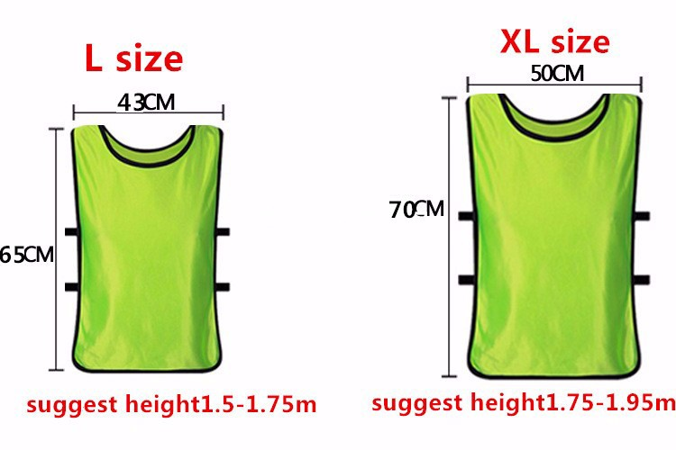 2017 New Sleeveless Men Kids Football Soccer Training Jersey Sports Against  Vest Waistcoat Grouping Jerseys Shirt 09159d4fe