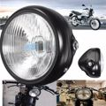 6.5 Inch 12V Retro Front Round Motorcycle Headlight Lamp For CG125 GN125 Cafe Racer