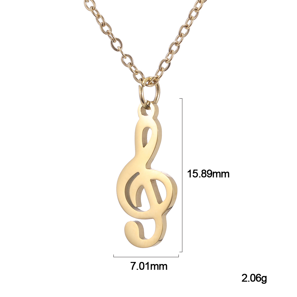 Stainless Steel Musical Pendant Violin Clef