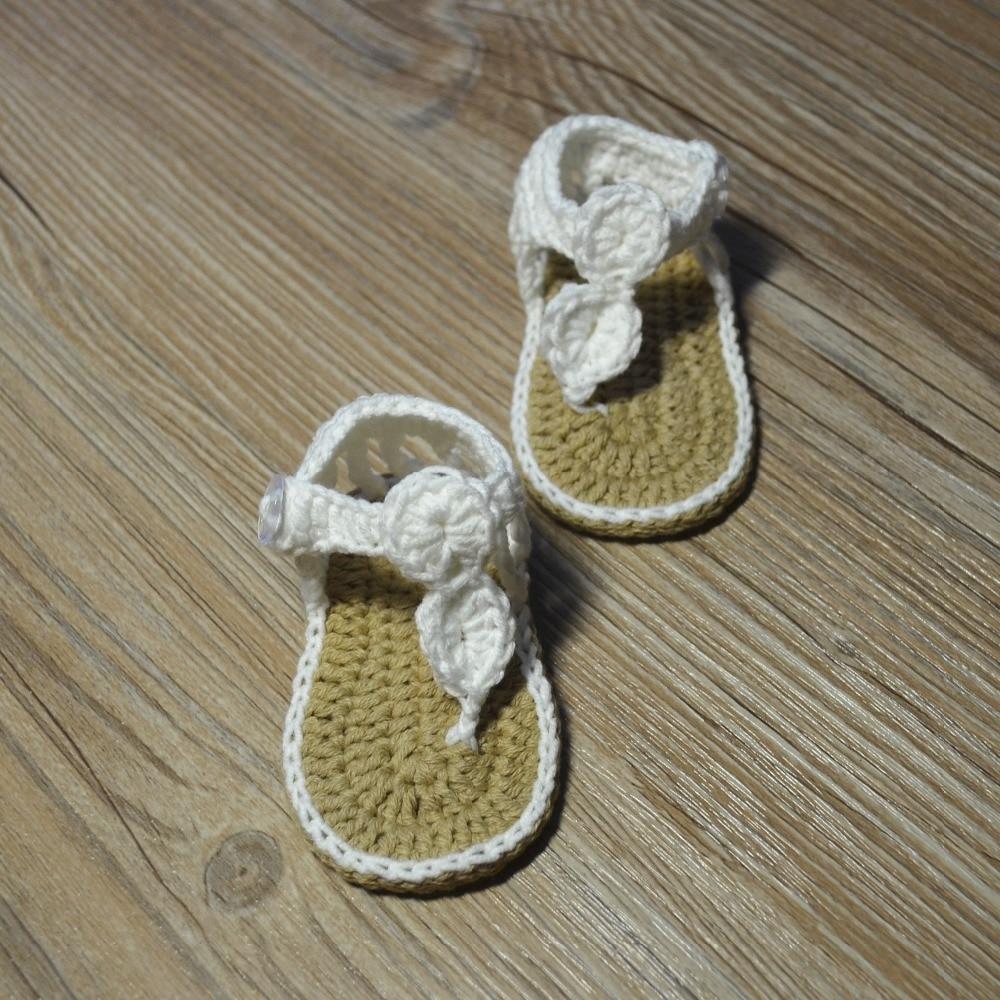 QYFLYXUE-Freeshipping dziecko Crochet shoes, noworodka rozmiar 0-12 M - Buty dziecięce - Zdjęcie 5