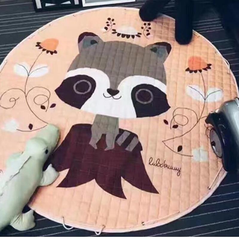 Tapis de jeu rond pour bébé tapis de sol pour enfants tapis rampants tapis de couverture de dessin animé doux tapis de sport pour bébé meilleur cadeau pour les enfants