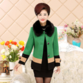 2016 New Mother Dress Plus Cotton Short Paragraph Nagymaros Collar Wool Woolen Coats Women Middle-aged Fall And Winter J227