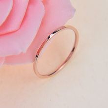 ZMZY Round Rings For Women Thin Stainless Steel Wedding Ring Simplicity Fashion Jewelry Wholesale bijoux 1mm(China)