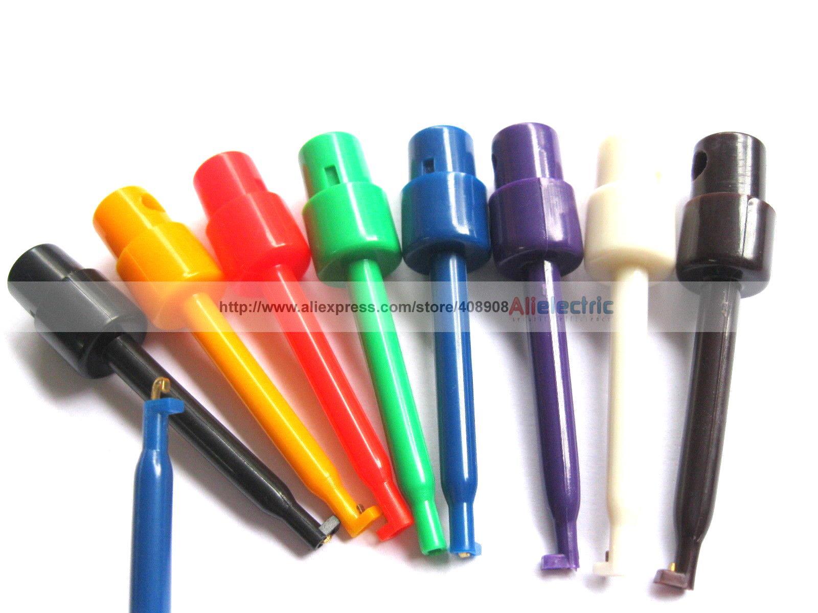 160 шт. небольшой тест клип на вольтамперомметр 8 цветов больших размеров