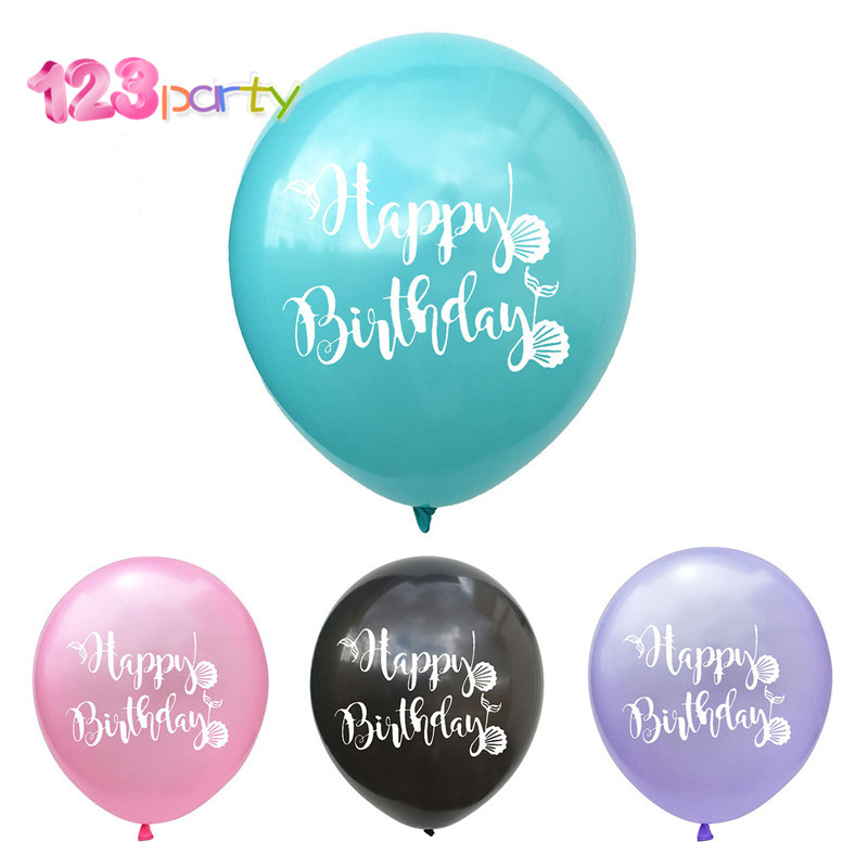 123 12pcs Mermaid Balloon Little Mermaid Birthday Party Decorations Ballon Mermaid Theme Foil Balloons Cute Baby Kids Favors