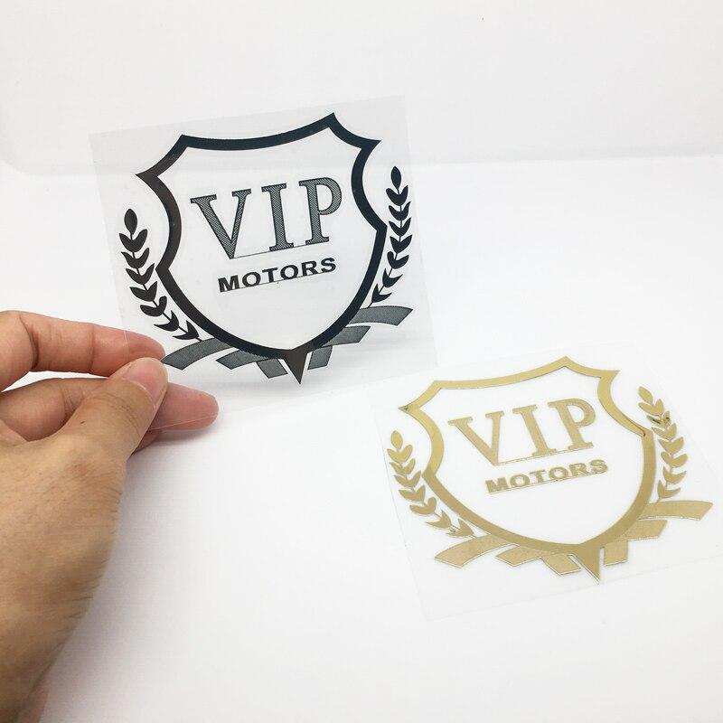 ANTINIYA Metal VIP coche pegatina emblema insignia Logo para Benz Kia Hyundai bmw accesorios coche-estilo