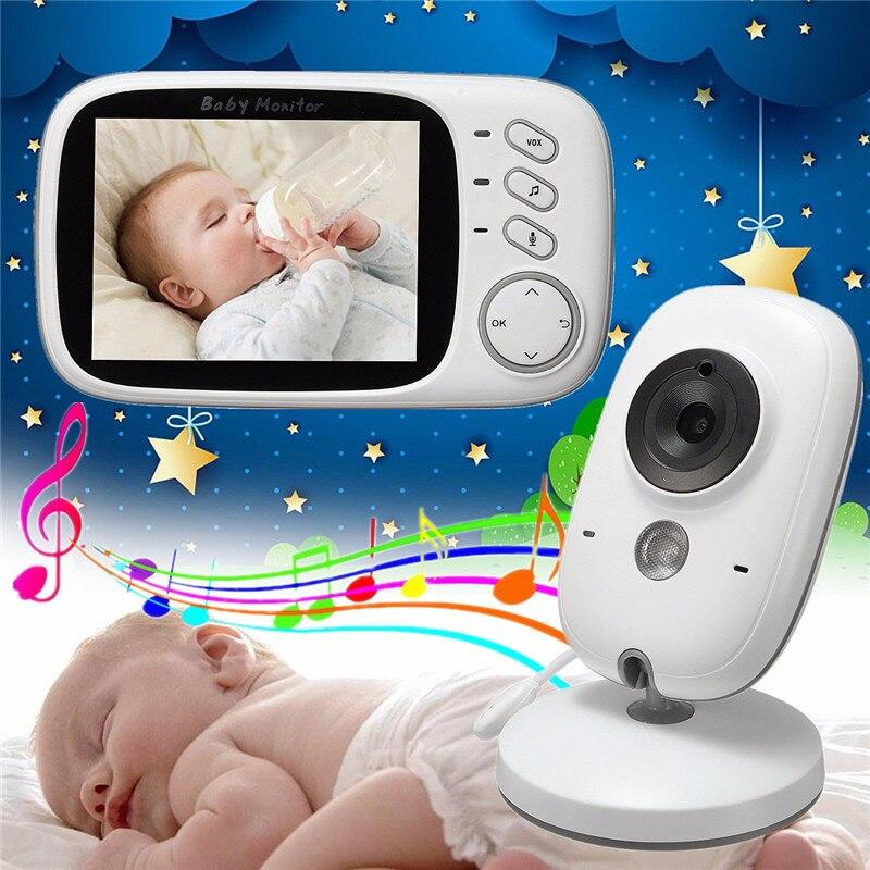 Babykam радионяня с камерой 3,2 дюймов ЖК-дисплей ИК Ночное видение Детские домофон Температура Сенсор колыбельные, Детские камеры видео няня