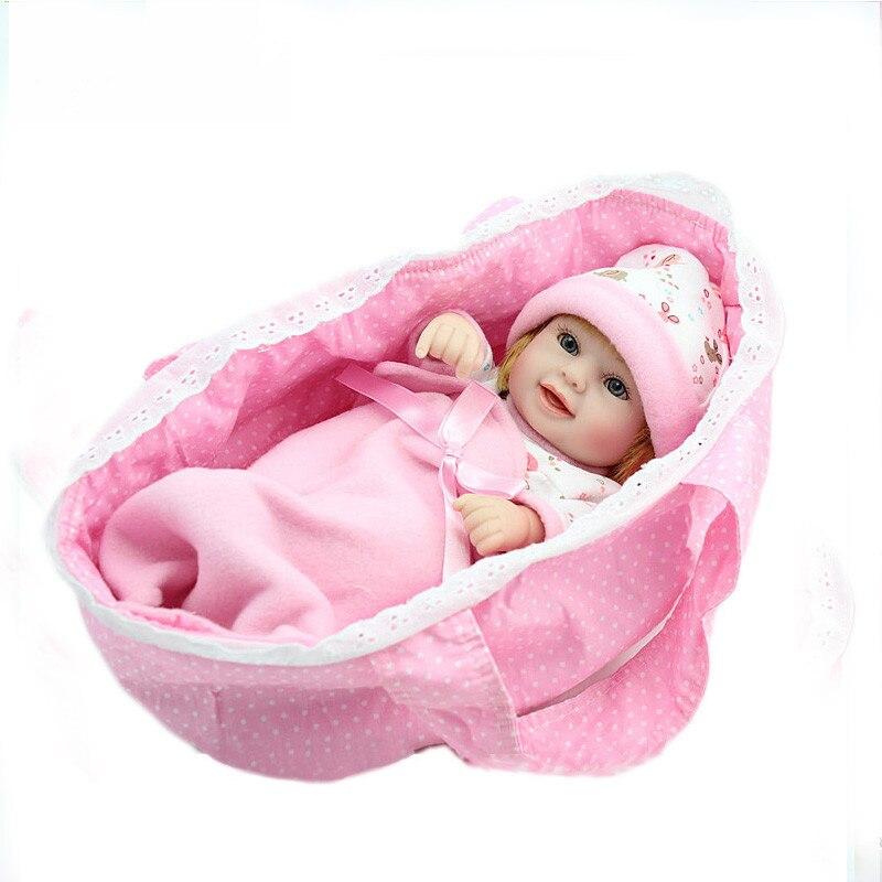 ᓂhot 28cm Pink Bebe Reborn ๏ Doll Doll Toy Gift For ⊱ Kids