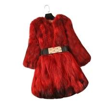 2017 nova chegada guaxinim verdadeiro casaco de pele de médio longo genuíno casaco de pele do inverno quente outwear estilo Europeu femme pele natural para inverno pano