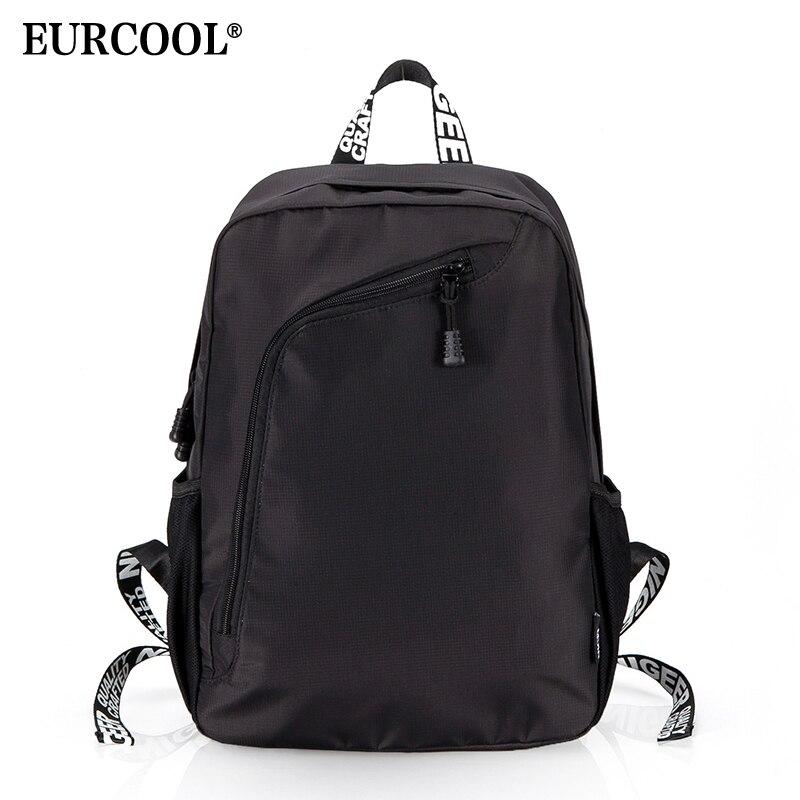 EURCOOL décontracté voyage sac à dos moderne hommes et femmes sac à dos pour ordinateur portable pour adolescent mode sacs à dos n8807