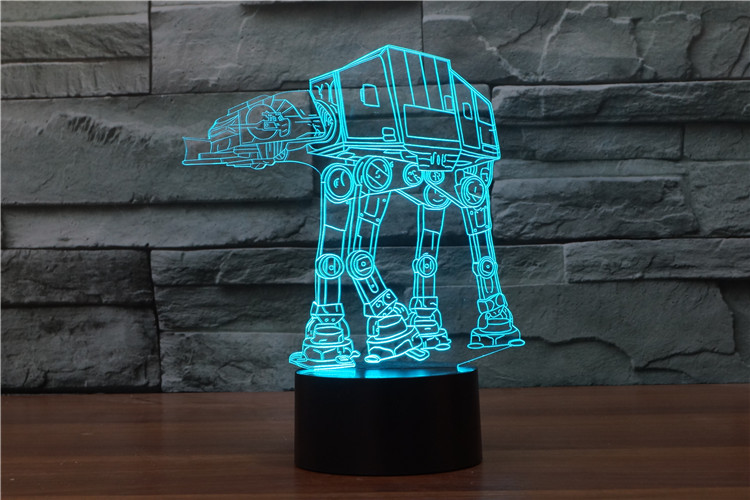 7 Colors Star Wars Stormtrooper Millennium Falcon Action Figures 3D Table Lamp BB 8 Master Yoda Jedi Darth Vader Mask Led Toys star wars bb8 droid 3d bulbing light toys 2016 new 7 color changing visual illusion led lamp darth vader millennium falcon toy