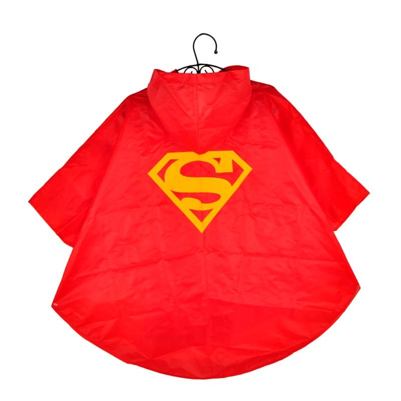New High Quality Raincoat Superman Spiderman Batman Kids Children Rain Coat Kids Waterproof Rainwear Rain Jackets