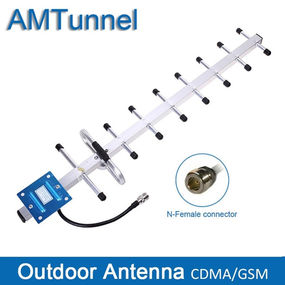 Außenantenne 13dBi Yagi Antenne Außenantenne CDMA850Mhz GSM Dualband Antenne mit N Buchse für mobile Signalverstärker