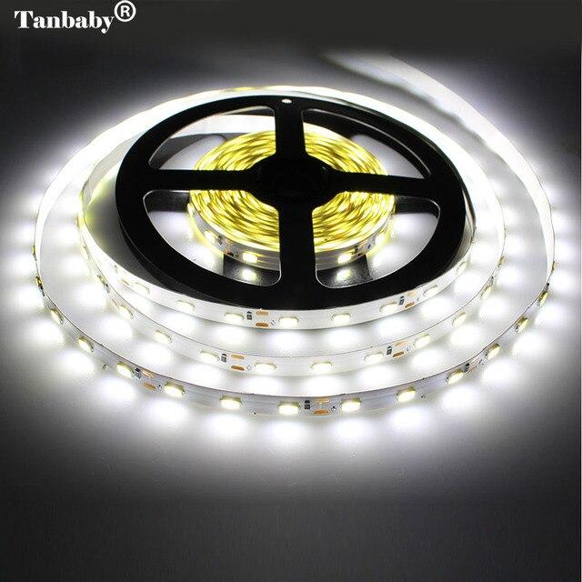 Tanbaby LED 스트립 빛 5630 DC12V 5 메터 300led 유연한 5730 바 빛 높은 밝기 비 방수 실내 홈 장식
