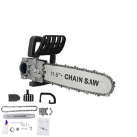 Portable Multipurpose Household DIY Electric Chain Saw Chain Chainsaw Stand Converter Industrial Polisher Modified Wood Cut Tool