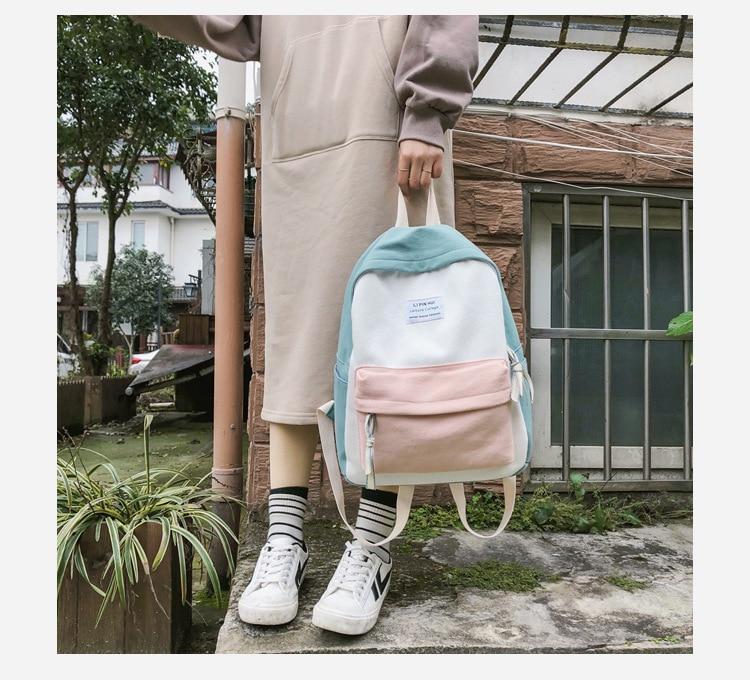 HTB14PeJaBv0gK0jSZKbq6zK2FXaj 2019 New Fashion Women Backpack Leisure Shoulder School Bag For Teenage Girl Bagpack Rucksack Knapsack Backpack For Women
