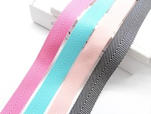 1 inch 25mm Colorful Geometric Stripe Herringbone Woven pattern Ribbon Wrapped Gift Packages Folk-Custom Tape