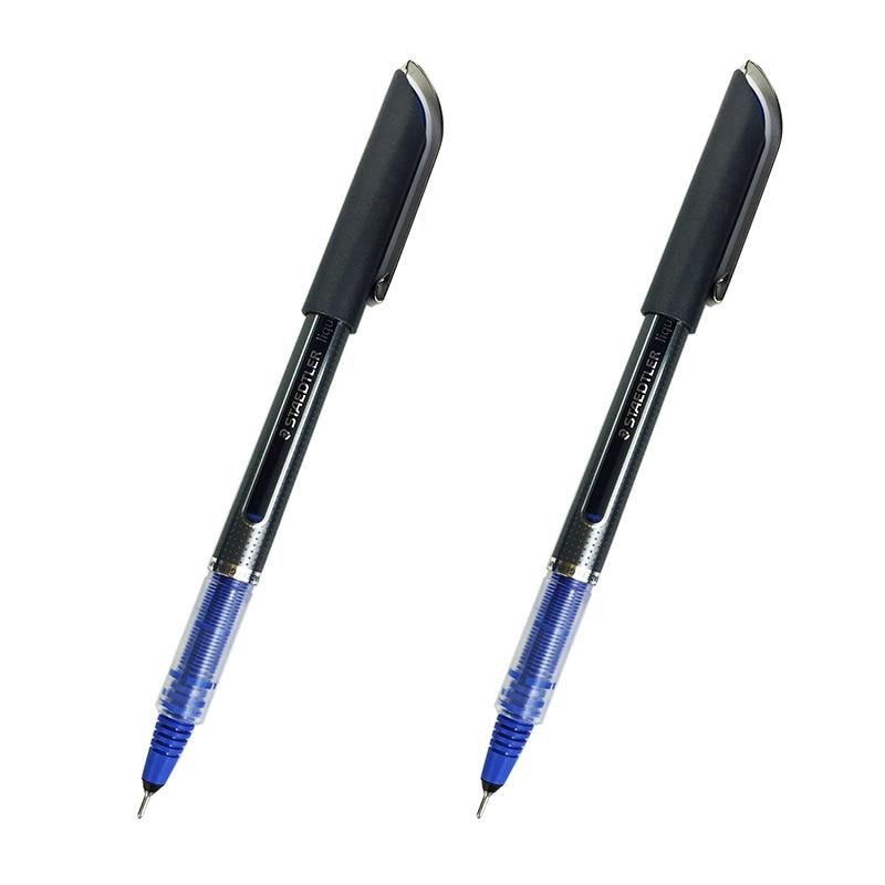 Super bon lisse! Allemagne Staedtler 0.5mm Gel Stylo Bleu Liquide Encre D'écriture Aiguille Pointe Papeterie Étudiant Bureau Fournitures Scolaires