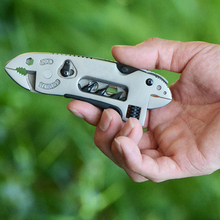 Traveling Accessories Camping Survival Multi-tool Knife Gear EDC Tools Set Adjustable Wrench Jaw Screwdriver Pliers Tools