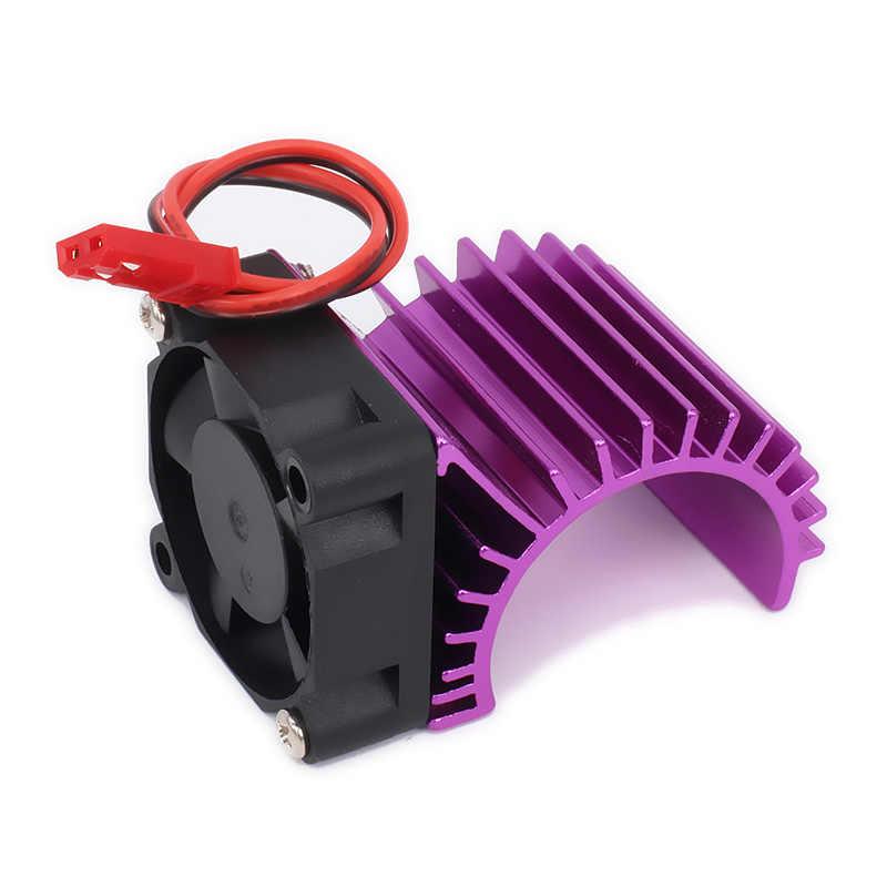380 cabeza de refrigeración del Motor disipador de calor del disipador de calor lado de la ventilación 6 v ventilador JST para 1/16 RC Hobby modelo EP Coche /barco HSP HPI Wltoys Himoto Redcat