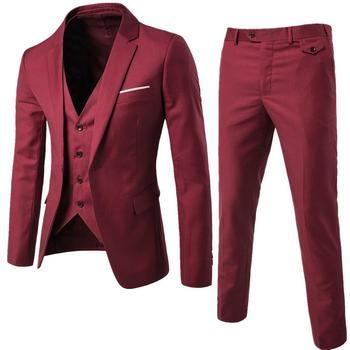 dbe7d1f61a Traje de hombre de negocios Formal vestido de ocio Slim chaleco Chaleco de  tres piezas novio mejor