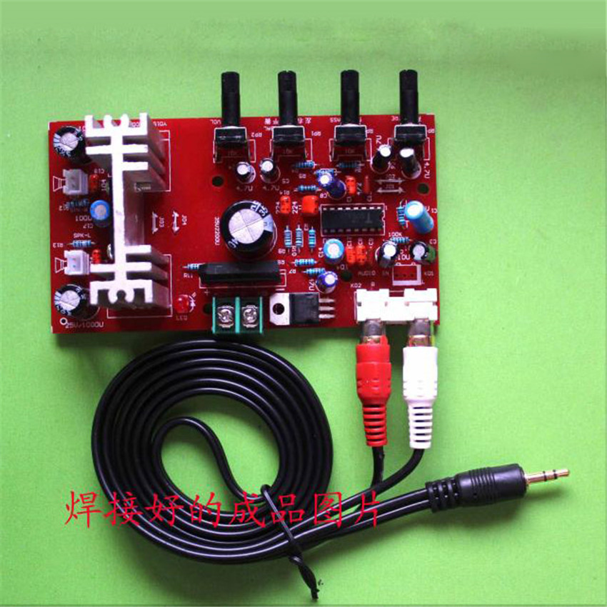 Electronic Component Parts : Diy kit tda ta audio amplifier in front of