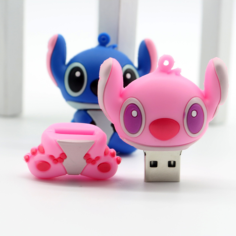 Genuine cartoon Lilo&Stitch USB flash drive 4GB 8GB 16GB 32GB  U disk Cute thumb memory stick 64GB pen drive usb flash