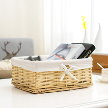 Wicker basket clothes straw storage fruit baskets for toys organizer small snack sundries bread boxes decorative wicker woven