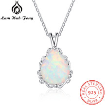 2018 water drop opal pendant sterling silver 925 jewelry fashion woman classic Gifts for lovers  Valentines Day(Lam Hub Fong)