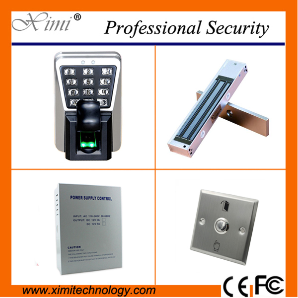Door access control system biometric fingerprint reader tcp/ip 3000 fingerprint user ZK hot sale waterproof samrt door lock