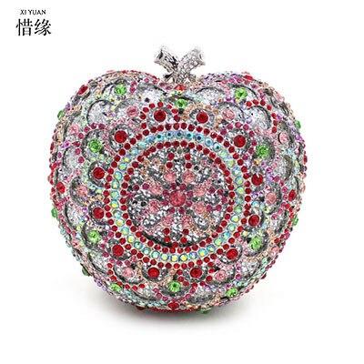 XI YUAN BRAND female Luxury crystal clutch evening bag silver party purse women wedding bridal handbag pouch soiree pochette bag