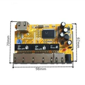 Image 3 - 5 יציאת Gigabit מתג מודול הוא בשימוש נרחב LED קו 5 יציאת 10/100/1000 m יציאות מגע מיני מתג מודול PCBA לוח האם
