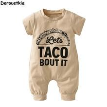 Summer short-sleeved jumpsuit for newborn baby boy