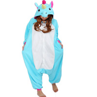 New Women Pajama Flannel Unicorn Cartoon Cosplay Adult Unisex Homewear For Adults Animal Pajamas