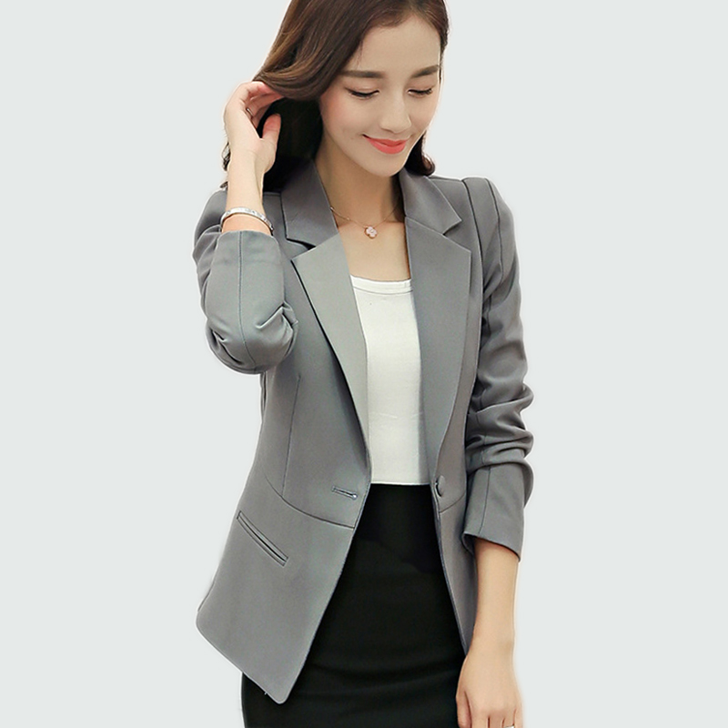 Real 2018 Fashion Slim Fit Women Blazers And Jackets Small Suit Jacket Office Lady Suits Style Ladies Long-sleeved Blazer