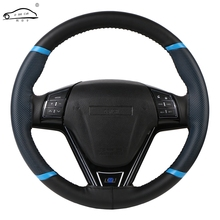 O SHI CAR Steering Wheel Cover Durable 38cm Stitch on Wrap case/Sport Style imitation leather steering cover with Needle &Thread все цены