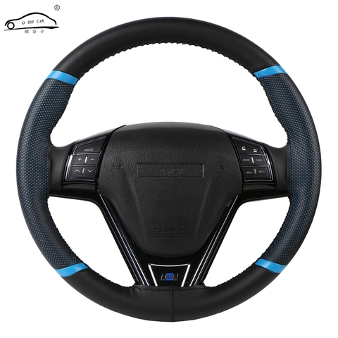 O SHI CAR Steering Wheel Cover Durable 38cm Stitch on Wrap case/Sport Style imitation leather steering cover with Needle &Thread Pakistan