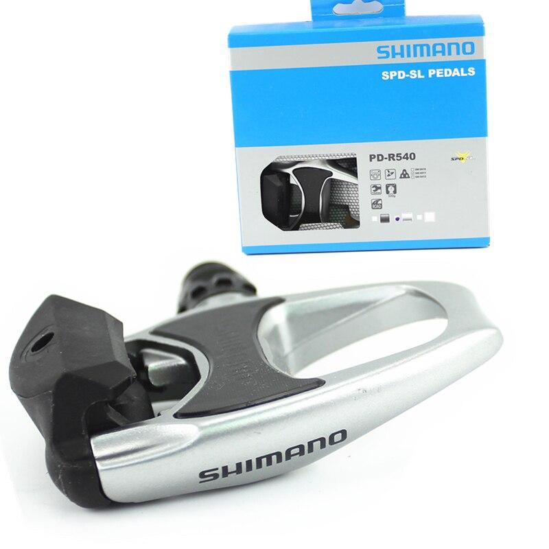 SHIMANO PD-R540 Chrome-moly et En Aluminium Vélo De Route Vélo Vélo Large Plate-Forme Pédales Y Compris SPD SL SM-SH11 Auto- verrouillage Crampons
