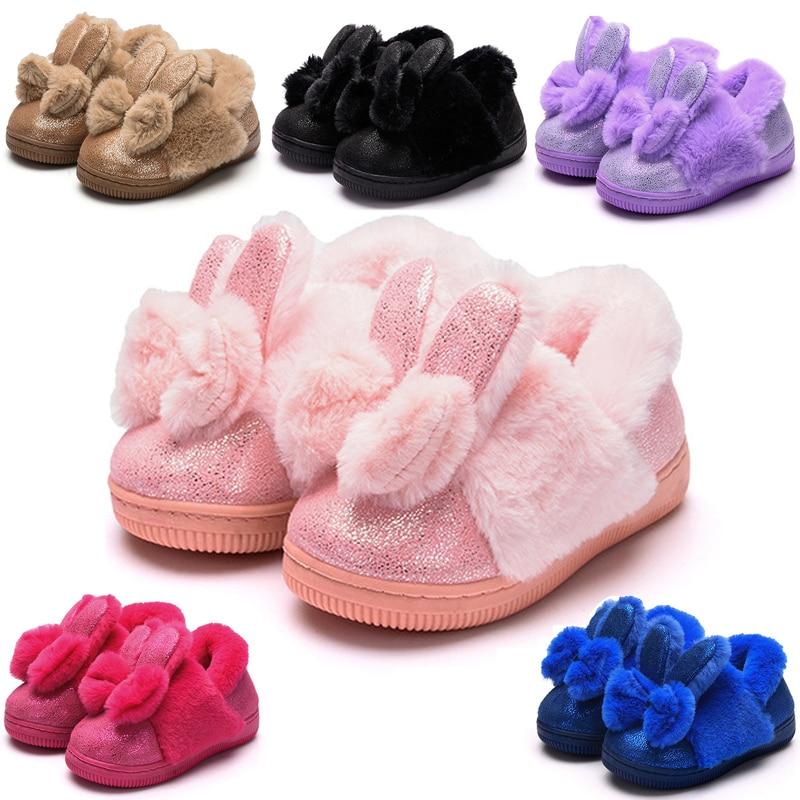 Aliexpress.com : Buy Cute Baby Girls Slippers Winter Warm