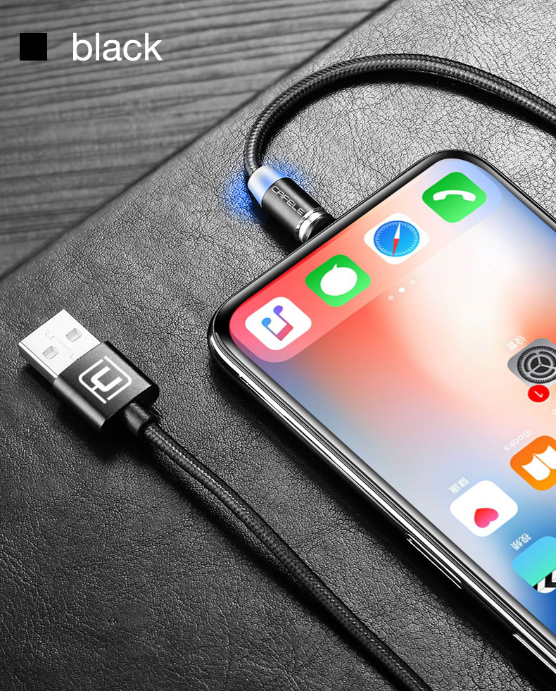 Magnetic usb type c micro cable for iphone x xs max xr 8 7 6 6s plus 5 5s se (13)