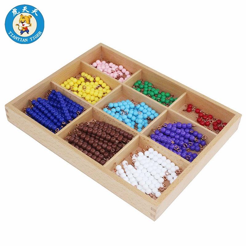 Baby Montessori Math Toys Early Education Preschool Teaching Aids Beads Checker Board