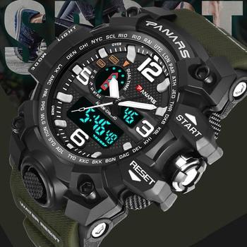 7be271bc42c3 Hombres relojes deportivos militar 2018 Meskie Top marca de lujo  impermeable reloj de pulsera para hombres
