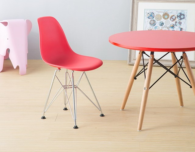 Minimalist Modern Design Plastic And Chromed Steel Leg Kids Chair, Fashion  Classic Design Popular Kids