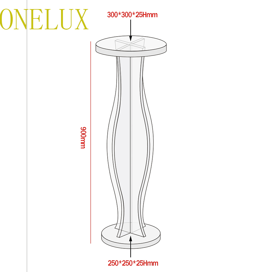 Купить с кэшбэком Transparent Acrylic Round Pedestal Table,Lucite Flower Pot Stand