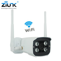 ZILNK WIFI IP Camera Bullet Waterproof Outdoor 720P HD Network TF Card Slot Wireless Surveillance CCTV